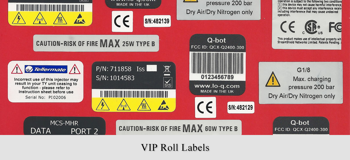 VIP Roll Labels ~ Avonclyde Ltd